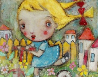 art print, 'Scooter Girl', print from my original painting,open editon