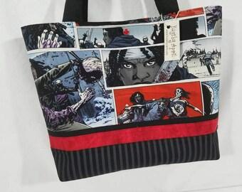 Walking Dead Zombie Comic book fabric bag SALE
