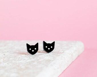 Cat Earrings - Kitty Earrings - Cat Studs - Kitty Studs - Cat Jewellery - Gift for Cat Lover - Kitty Jewellery - Cat Gift - Cat Lady Gift