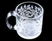 Tree of Life - 13oz Coffee Mug - Etched Glass Mug - Ready to Ship