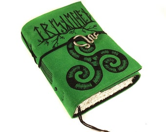 Triskelion, Celtic Journal, Leather, Handmade, Celtic Knot