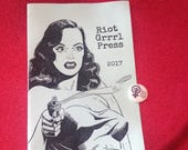 Riot Grrrl Press Info &  1 inch pin