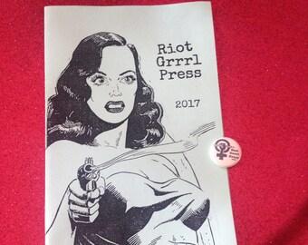 Riot Grrrl Press Info &  1 inch pin