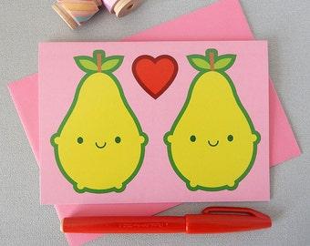 We Make A Great Pair - Kawaii Valentine's Day Card