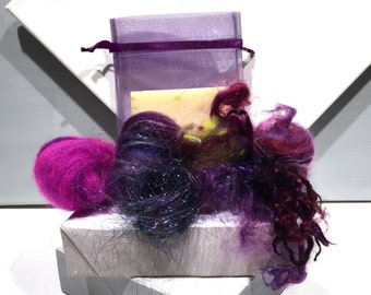 Sage Soap Felting Kit, Felted Soap Kit, DIY Gift, Stocking Stuffer, Wool Craft Kit, Wet Felting, DIY felted soap kit, Organic Soap