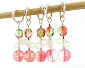 Watermelon Blush Stitch Marker Set - Customizable for Knitting or Crochet