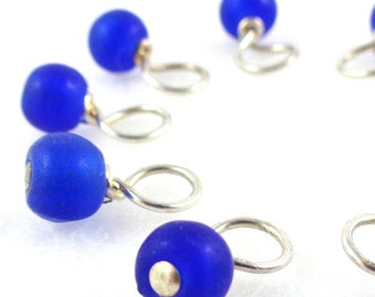 Bluejay Droplet Stitch Markers Knitting or Crochet (Choose Your Size - Set of 10)