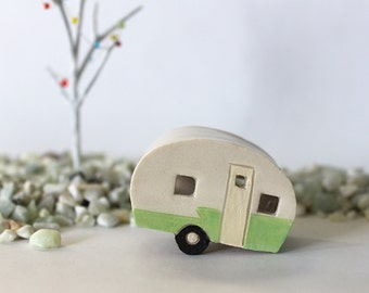 Tiny Vintage Trailer - handmade pottery