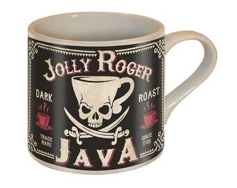 Jolly Roger Coffee Mug - Ceramic Mug by Trixie & Milo - Comes in a fun Gift Box  - Pirate/Fun Gift/Coffee Lovers