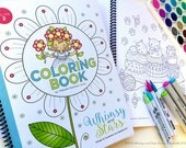 NEW Coloring Book ~ Volume 2 with Spiral Binding