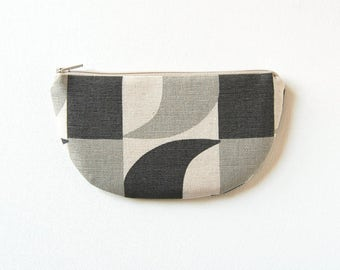 Coin Purse, Small Zipper Pouch, Women and Teens, Mini Wallet, Gift For Her, Skinny LaMinx Aperture in Concrete