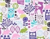 Michael MIller Forest Life Animals Fabric , Sewing Fabric, clothing fabric, Cotton Fabric, By the Yard, Half Yard or Fat Quarter, #118