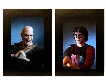 "Framed Harry + Voldemort Toy Photographs 5"" x 7"""