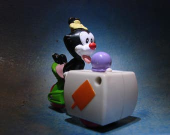 Vintage Animaniacs Dot Figurine with Ice Cream Cart