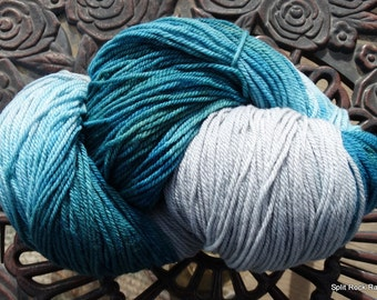 Silver Spruce Hand Painted DK Weight Targhee Yarn 8.5 oz over 600 Yards Knit Crochet