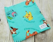 SALE! Ready to Ship - Catch 'Em All - Reusable Sandwich Bag | Snack Bag | Waterproof | Travel Bag from green by mamamade