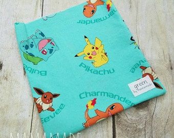 Catch 'Em All - Reusable Sandwich Bag | Snack Bag | Waterproof | Travel Bag from green by mamamade