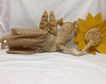 Primitive Doll, Angel,  Sunflower,  or Americana Angel your choice