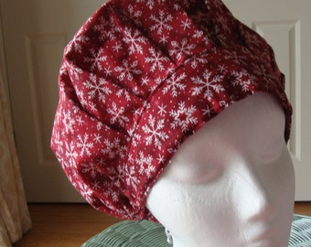 Snowflake Bouffant Style...................Surgical Scrub Hat...Chemo Hat...Chefs Hat