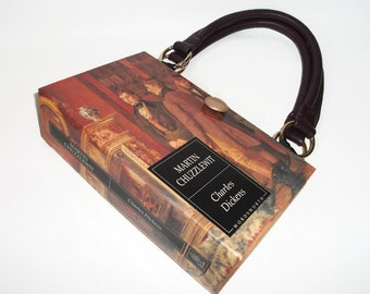 Charles Dickens Book Purse, Book Handbag, Book Bag Martin Chuzzlewit