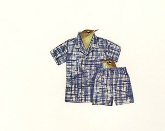 Pajama games. Limited edition print by Vivienne Strauss.