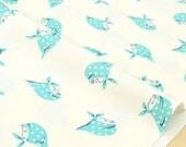 Japanese Fabric Kerchief Girls - aqua - 50cm