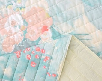 Japanese Fabric Nani Iro Komorebi quilted double gauze - springs - 50cm