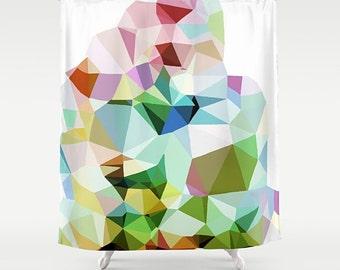 Shower Curtain, Modern Bathroom, Bathroom Shower, Art Shower Curtain, Abstract Art Shower, Abstract Shower, Geometric Shower, Bath Curtain