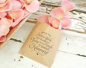 Wedding Petal Toss Bag - Kraft Paper Favor Bags - Toss and Shout Hooray! -  Flower Petal Toss - 20 Kraft Bags
