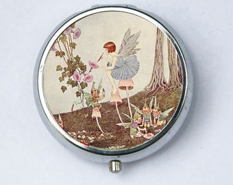 Fairy Painting Pill Case pillbox pill holder fairytale