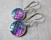 Mermaid Tales - Iridescent Lavender Mermaid Scale Earrings