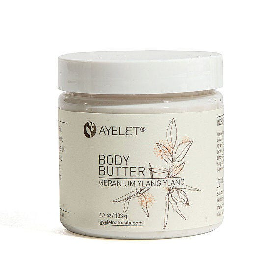 Whipped Organic Body Butter| Whipped Body Cream| Dry Skin Cream| Shea Butter Cream| Moisturizing Body Butter| Natural Body Butter4 oz