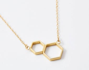 double honeycomb necklace