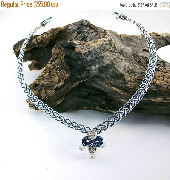 ON SALE Celtic Boudica Collar Necklace