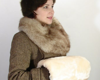 SALE! Victorian Faux Fur  Reproduction Steampunk Muff Ladies Handwarmer