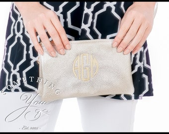 Monogrammed Crossbody Wallet - Personalized Wristlet, Vegan Leather Wristlet, Monogram Wristlet, Monogrammed Clutch Bag, xbody with initials