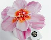 Fused Glass Night Light (pink flower)