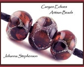 Big Hole Beads Amber Windows Canyon Echoes Lampwork Beads