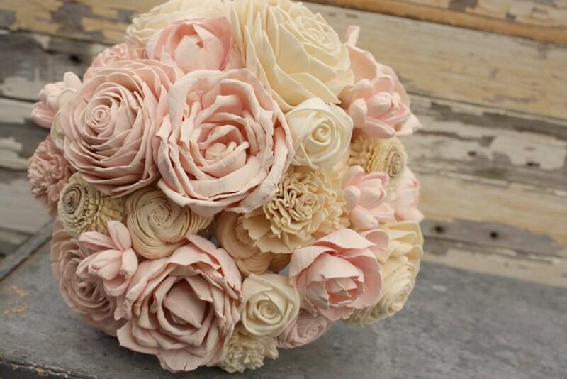 Blush Wedding Bouquet Brides Pink Sola Flower