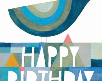 Birthday Bird Greeting Card