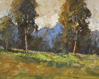 Bobbi Doyle-Maher Southern Landscape  Original oil painting Tonalism Landscape palette knife
