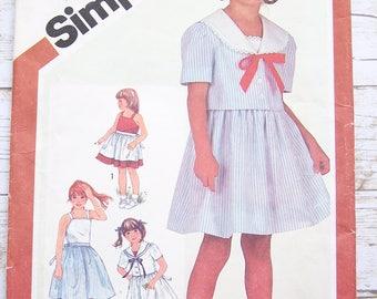 Vintage 1982 sundress and jacket girls sewing pattern Size 5 uncut