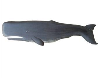 Whales, Sperm Whale Black - 4 ft.