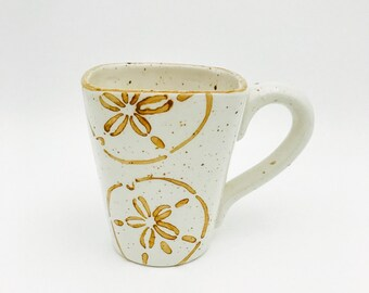 Mugs. Sand Dollar Mugs. Sand Dollar. Coffee. 12 oz. Handmade by Sara Hunter Designs