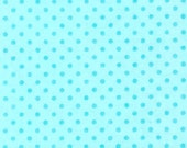 Kelsey's Custom Order FUNKY SOCK MONKEY Turquoise Flannel Polka Dots Baby Crib Quilt