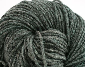 Hand Dyed Aran weight mini Empire Rambouillet Wool 213 yds 4oz Army Jacket
