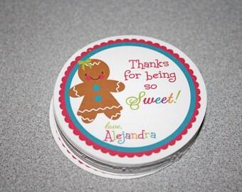 GINGERBREAD Girl Favor Tags / Gingerbread Favor Tags / Gingerbread Gift Tags / Gingerbread Party Tags/Gingerbread Birthday Party/Cookie Tags
