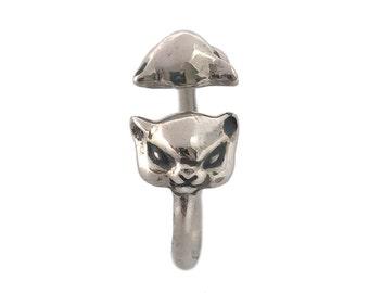 Cat Ring    kitty kitten silver gold adjustable jewelry kawaii cute jewelry