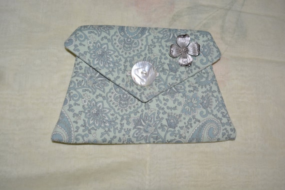 One of a kind victorian influence corded pocket with brooch