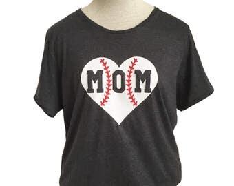 Baseball or Softball Mom Adult Tee